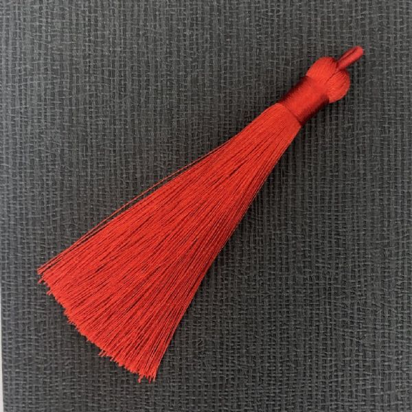 Red tassel for Santa keys - 10mm x 90mm